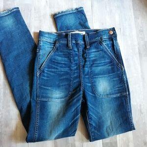 Madewell Rivet & Thread Side Zip Skinny Jeans